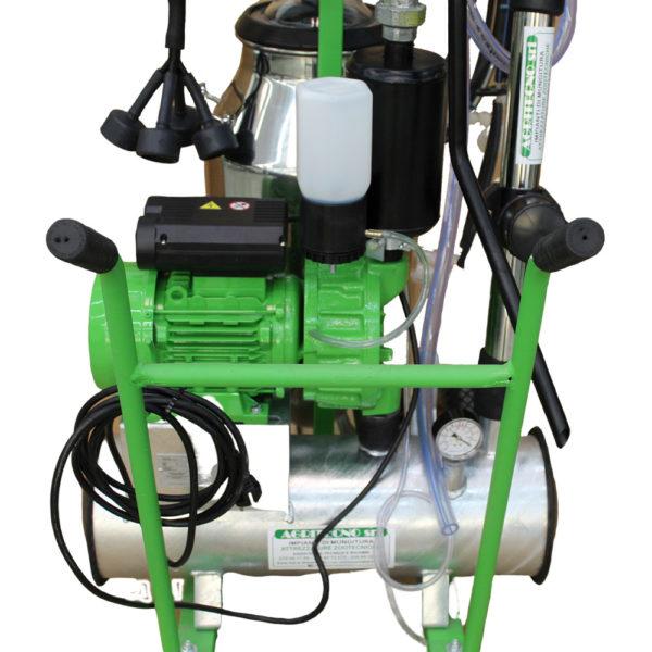 Carrellino mungitore professionale AGRITECNO due gruppi a olio