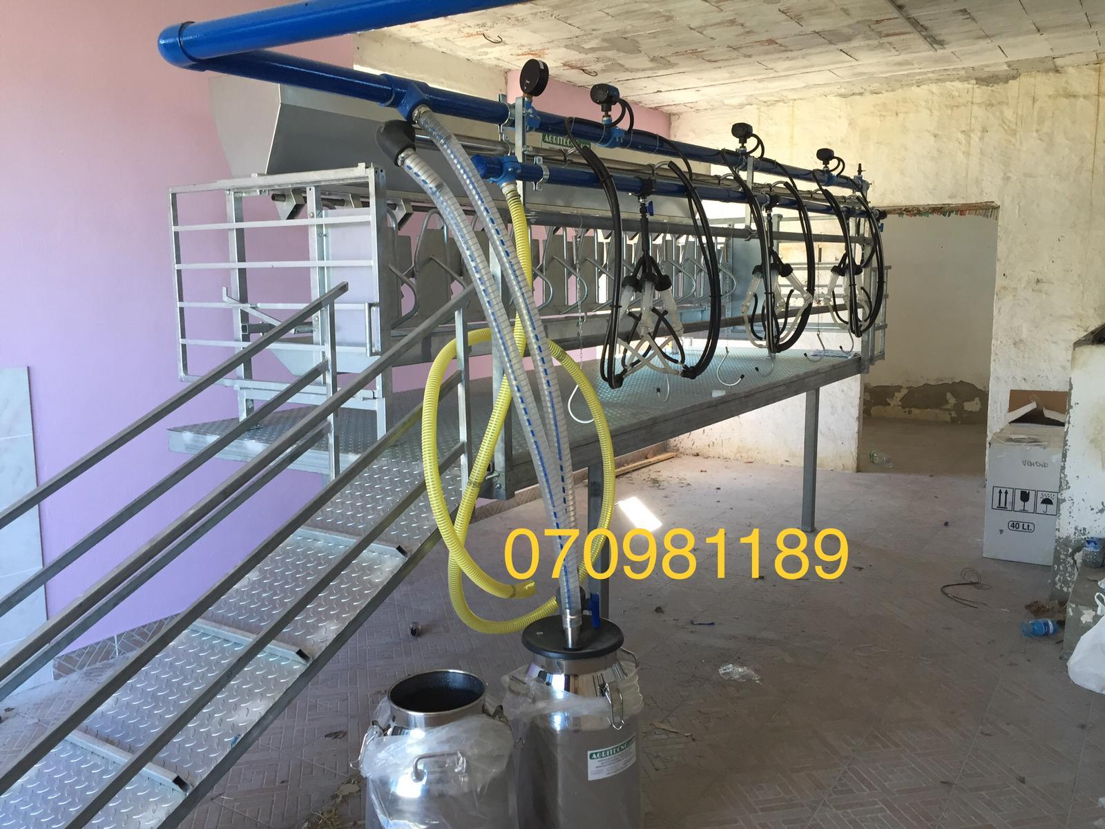 impianto mungitore a lattodotto con scarico a bidone