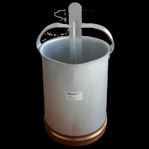 Secchio misura latte in alluminio